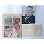 H.l. Mencken Typed And Signed Letter And Ephemera