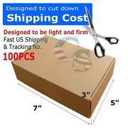 100 7x5x3 Shipping Packing Mailing Moving Boxes Corrugated Carton