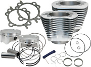Sands Cycle Silver 98 Big Bore Cylinder And Piston Kit 910-0482 For Harley 1999-06