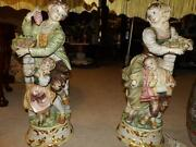 1930and039s Made In Italy Lamp Boy W Girl Girl With Boy Signed Org. Amazing