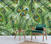 3d Peacock Feathers 64 Wall Paper Wall Print Decal Deco Indoor Wall Mural Ca