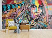 3d Ethnic Style Girl 45 Wall Paper Wall Print Decal Wall Deco Indoor Wall Murals