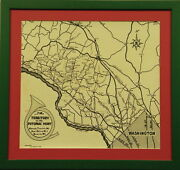 Territory Of The Potomac Hunt C1948 Framed Map