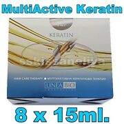Linea Bio Multiactive Keratin Hair Therapy Intensive Treatment Ampoules 8 X 15ml