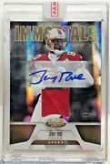 Jerry Rice 2011 Panini Certified Immortal Mirror Gold Gu Patch Autograph Auto/25