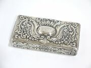 6 7/8 In - Sterling Silver Gilded Interior And Co. Antique Crown Lions Box