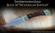 Engraved Buck 110 Pocket Knife - Hand Engraved With Hammer And Chisel - Usa