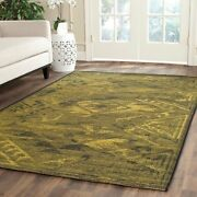 Black / Green Safavieh Power Loomed Palazzo Area Rug - 8and039 X 11and039