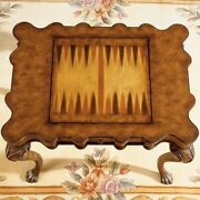 Beaumont Lane Wood Game Table In Burnt Wine