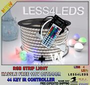 110v - 120v Flexible Outdoor Led Strip Light Rgb +w 100m Connector + Extensions