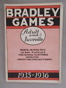 Milton Bradley Toy And Game Catalog - 1935-1936 Toys And Games