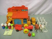 Vintage Fisher Price Little People Play Family Western Town 934 I Horse Wagon