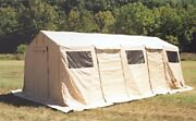 U.s. Military Army Tent-base X 305 Shelter System 18x25' Tan Hdt Global Fast-up