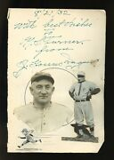 Large J. Honus Wagner Autographed Album Page With Original Pirates Photos