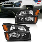 For 2002-2006 Chevy Avalanche Body Cladding Headlights + Bumper Signal Lamps