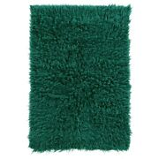 Linon New Flokati Hand Woven Wool 2and0394x4and0393 Rug In Emerald Green