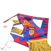 Bargain Royal Arch Principals Apron And Sash With Jewel And Gloves
