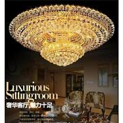 Luxury Court Style K9 Clear Crystal Led Ceiling Lamps Living Room Decor Light