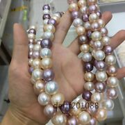 Exotic Rare Aaaa++ Purple Pink 12-14mm Edison Pearl Necklace