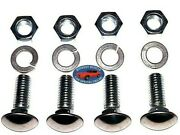 Gm Truck 1-1/4 Stainless Capped Round Head Front Rear Bumper Bolt Bolts 4pcs A