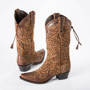 Cowgirl Double D Ranchwear Brown Cheetah Chic By Lane Boots Dd9020a
