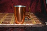 Solid Copper Mug Cup W/ Anchor Shaped Handle Made In South Africa 4 3/4x4 3/4