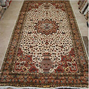 9x6and039 Vaas Floral Medallion Area Rug Hand Knotted Wool Silk Carpet