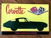 1966 Corvette Factory Gm Owners Manual Second Edition Part 3879852 Full Card