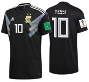 Adidas Lionel Messi Argentina Away Jersey Fifa World Cup 2018 Patches