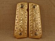 Colt 1911 Grips Custom Hand Made 38 Super 45 Government Commander Gold Plated