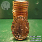 20 Franklin Z-note 1oz .999 Copper Round Apocalypeze Series Limited