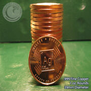 Silver And Shells 1 Oz.999 Copper 20 Rounds Part Of Safety In S 1 Roll In Tube