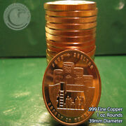 Food And Shelter 1 Oz.999 Copper 20 Rounds Part Of Safety In S 1 Roll In Tube