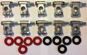 Military Battery Terminals -qty 10 - Heavy Duty Terminals W Preventative Washers