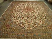 New Pestal Flower All Over Area Rug Hand Knotted Wool Silk Carpet 12.1 X 9.2and039