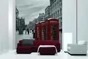 3d Red Telephone Booth 5 Wall Paper Wall Print Decal Wall Deco Indoor Mural