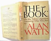 The Book On The Taboo Against... A Watts 1966 Pantheon - 1st Ed/ 1st Print