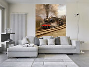 3d Steam Train Railway 56 Wall Paper Wall Print Decal Wall Deco Indoor Mural