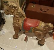 Vintage 1940s Mobo Pressed Steel Rocking Riding Horse Toy Made In England Rare