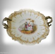 Sevres Style Center Bowl With Gilt Frame And Victorian Couple