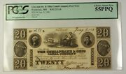 1840 20 Chesapeake And Ohio Canal Co. Frederick Md Obsolete Post Note Pcgs 55 Ppq