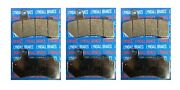 Lyndall Racing Xtreme Low Dust Front Rear Brake Pads Set Of Three Harley Touring