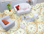 3d Sawtooth Clock Pattern 4 Floor Wallpaper Murals Wall Print Decal Aj Wallpaper