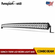 50inch 700w Led Light Bars Flood Spot Combo Roof Driving Truck Boat Suv 4wd 52and039and039