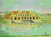 Michel Delacroix  Weld Boat House  Lithograph On Paper