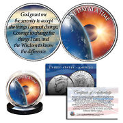 One Day At A Time Sun Moon Earth Pray 2-sided Jfk Half Dollar Holy Spirit Coin