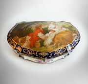 Limoges Porcelain Dresser Box With Victorian Couple And Floral