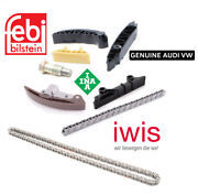 Engine Timing Chain Kit Timing Chain Tensioner Rail Guides For Audi Vw 3.6 3.6l