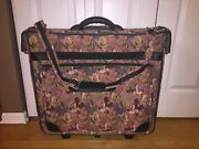 Vintage Htf Disney Mickey Mouse Donald Goofy 24x24x8 Pink Green Luggage Suitcase