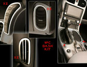 2005-2013 Corvette Brushed Stainless Console Shifter And Dash Trim Bezels 9pc Kit